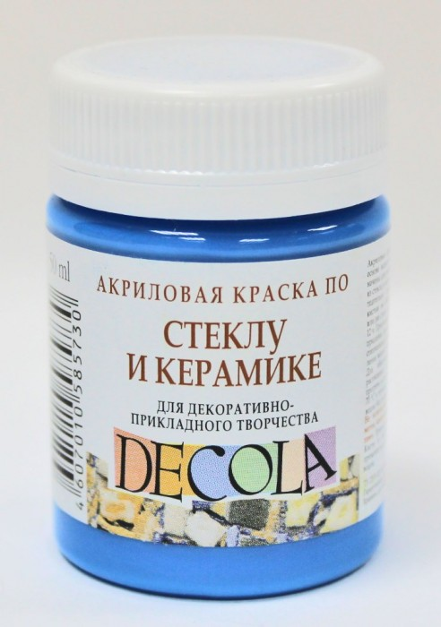 Акриловая краска по стеклу decola
